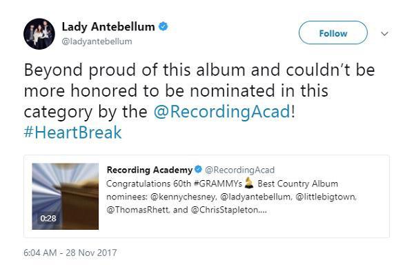 Lady Gaga, Lana Del Rey và loạt sao phản ứng trước đề cử Grammy 2018-9