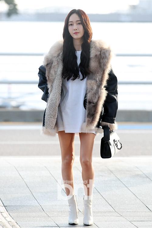 Mỹ nhân Running man Song Ji Hyo - Jessica lên đồ ngày đông đẹp nhất street style sao Hàn-1