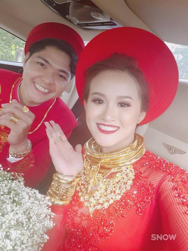 Cô dâu vàng đeo trĩu cổ chia sẻ chuyện riêng tư sau đám cưới đình đám về độ chịu chơi-1