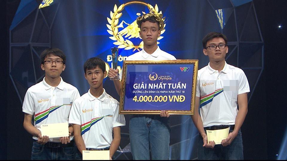 Nam sinh trường Quốc học Huế xuất sắc đạt vòng nguyệt quế đầu tiên cuộc thi quý II của Olympia-2