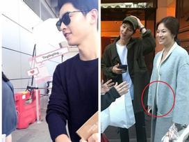 Sự thật về cuốn sách chăm con Song Joong Ki mang theo tại sân bay Hong Kong