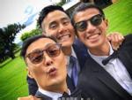 Bành Vu Yến chia sẻ loạt ảnh hài hước hậu trường đám cưới tài tử 'Vô Gian Đạo' Dư Văn Lạc
