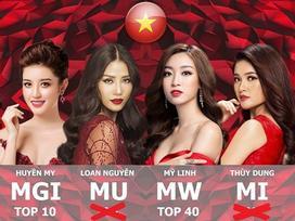Thi cử thị phi, Huyền My vẫn 'cân' cả dàn người đẹp Việt thi quốc tế năm 2017