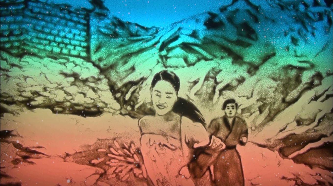Sống xa anh chẳng dễ dàng xuất hiện MV tranh cát và bản cover của Bảo Anh nhí-2