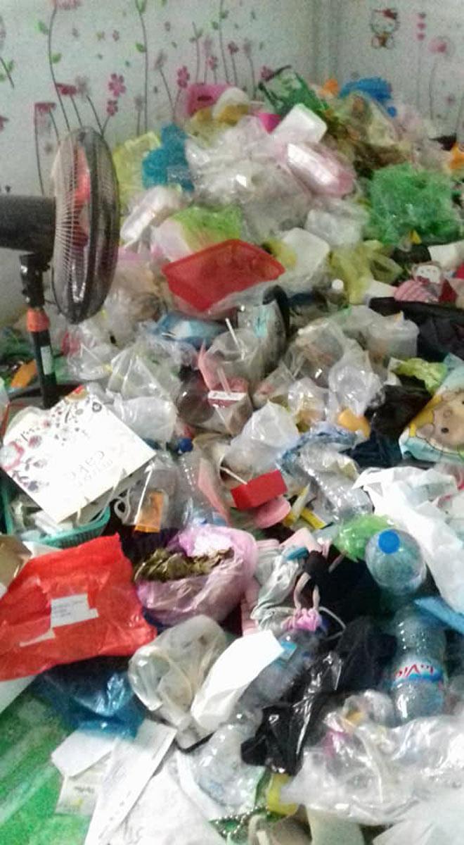 Kinh hoàng phòng trọ bẩn như bãi rác của cô gái Cần Thơ-3