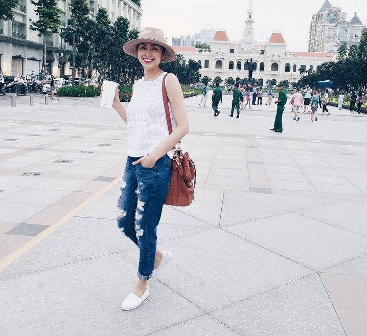 Mẹ hai con Tăng Thanh Hà chuộng style giản dị nhưng vẫn chất từng centimet - ảnh 7
