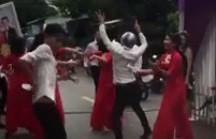 Dàn bê tráp mở nhạc sàn nhảy loạn đường ở An Giang-1