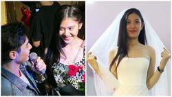 Vừa bỏ thi hoa hậu, Chúng Huyền Thanh bất ngờ đi thử váy và chụp ảnh cưới