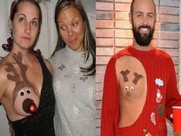 Xu hướng trang trí ngực trần trở thành hot trend trong mùa Giáng sinh năm nay