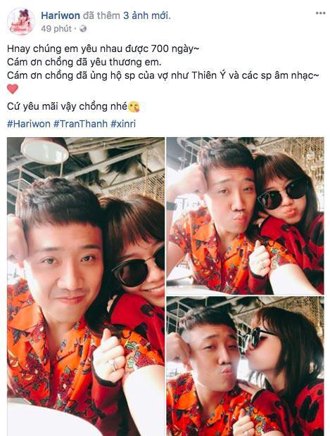 Trấn Thành và Hari Won diện đồ chói chang không liên quan kỉ niệm 700 ngày yêu nhau-1
