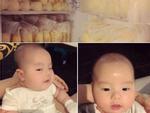Huyền Baby khoe biểu cảm siêu đáng yêu của con trai nhỏ cùng 'kho vàng' trong tủ lạnh