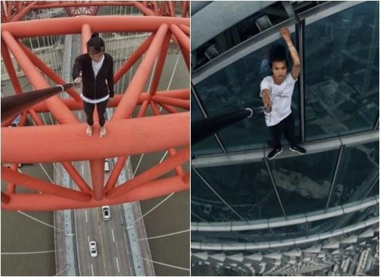Công bố đoạn clip diễn viên Trung Quốc trượt tay, rơi từ tầng 62 xuống đất và tử vong-1