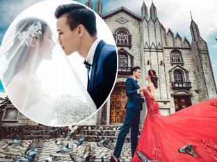 Hé lộ ảnh cưới đẹp lung linh của trung vệ Quế Ngọc Hải và bạn gái hoa khôi