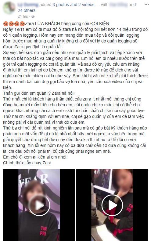 Tố Zara ứng xử kém, khách hàng người Việt đã không được ủng hộ lại còn bị phản đòn-1