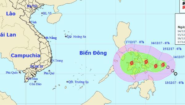 Bão giật cấp 10 áp sát biển Đông-1
