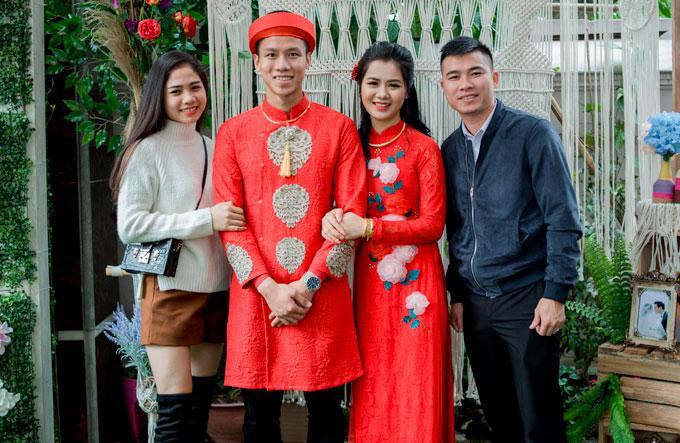 Hot boy Quế Ngọc Hải và vợ mặc màu đỏ trong lễ ăn hỏi-1