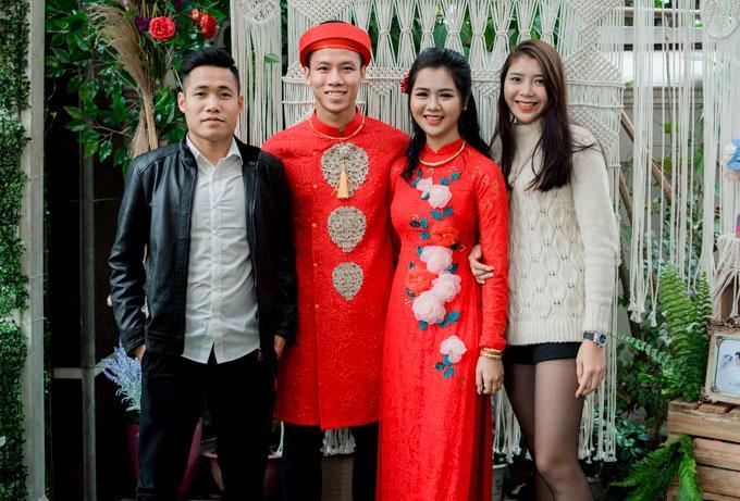 Hot boy Quế Ngọc Hải và vợ mặc màu đỏ trong lễ ăn hỏi-6