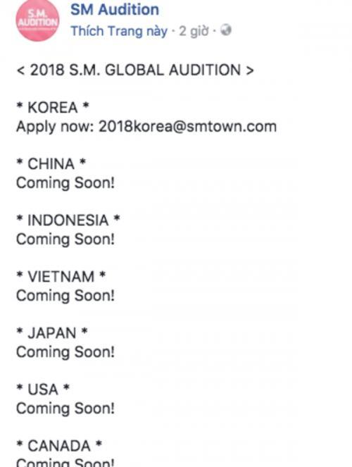 Fan 'rần rần' vì SM Entertainment tổ chức tuyển sinh tại Việt Nam-2