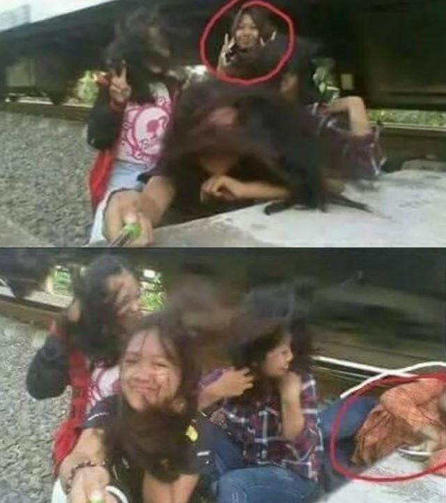 Cô gái bị tàu hỏa kéo lê khi selfie cùng bạn bên đường ray-1