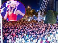 Vẫn đội mũ bông và nhảy điệu 'say rượu', Mỹ Tâm khiến khán giả Đà Nẵng quên giá lạnh