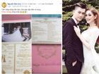 Hé lộ thiệp cưới mời 500 khách VIP của Lâm Khánh Chi và 'phi công' kém 8 tuổi