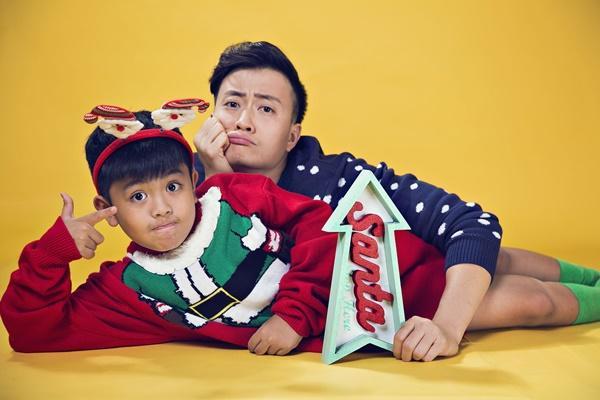 Hai cha con Lương Mạnh Hải lột xác trong mùa Giáng sinh-6