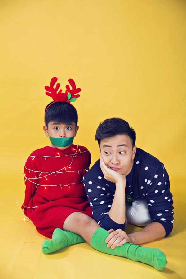 Hai cha con Lương Mạnh Hải lột xác trong mùa Giáng sinh-9