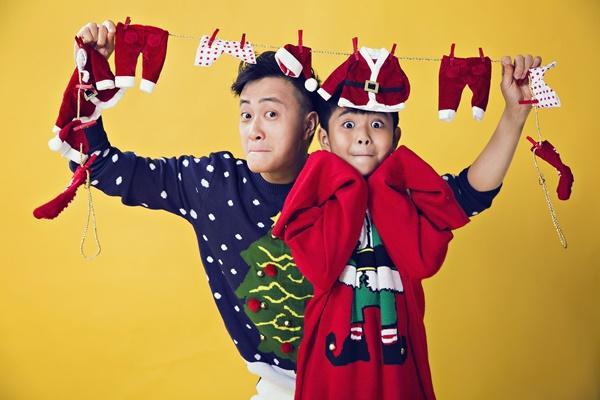 Hai cha con Lương Mạnh Hải lột xác trong mùa Giáng sinh-12