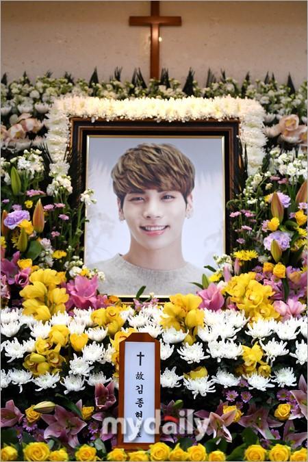 Di ảnh của Jonghyun trong tang lễ
