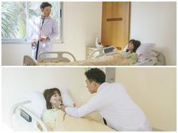 Trấn Thành ân cần chăm sóc Hari Won bên giường bệnh