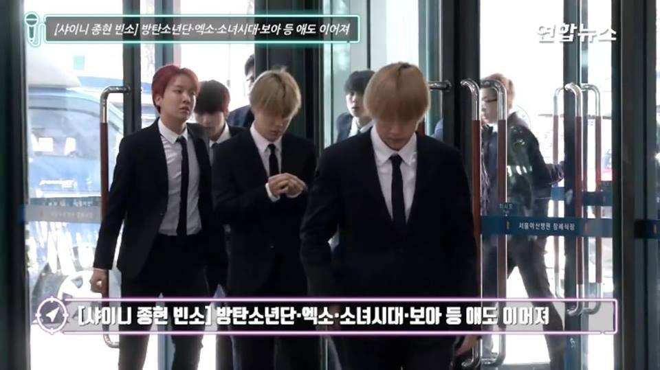 Những gương mặt thất thần của BTS, SNSD, BoA khi đến tang lễ SHINee Jonghyun-13
