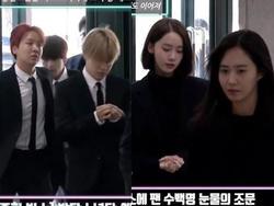 Những gương mặt thất thần của BTS, SNSD, BoA khi đến tang lễ SHINee Jonghyun
