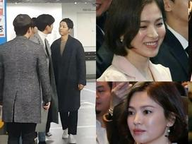 Bắt gặp Song Joong Ki 'trốn' Song Hye Kyo đi xem phim với người tình màn ảnh Park Bo Young
