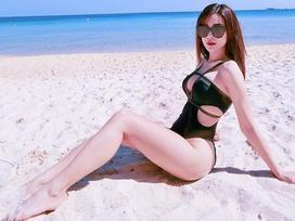 Tin sao Việt: Diệp Lâm Anh phô diễn hình thể với bikini, 'đánh tan' giá lạnh mùa đông