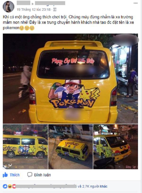 9X Phú Yên mê Pokemon đến mức dán kín xe khiến cộng đồng mạng thích thú-1