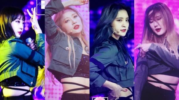 EXID đeo ruy băng đen tưởng niệm đàn anh Jonghyun trên sân khấu M Countdown-2
