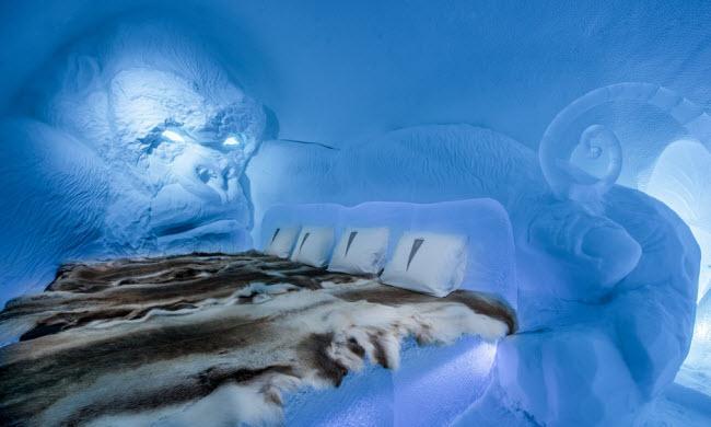 Lạnh tê tái trong khách sạn băng đẹp như ngoài hành tinh-1