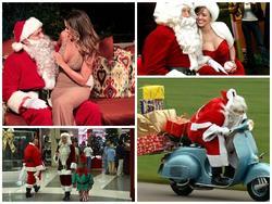 Ông già Noel 'bon chen' đi tặng quà Giáng sinh
