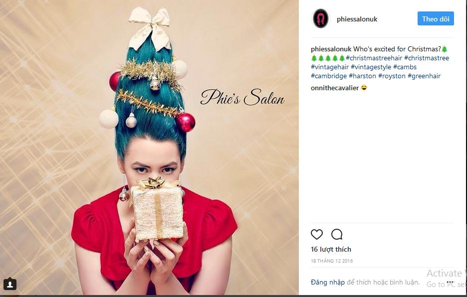 Hưởng ứng Giáng sinh, hoa hậu Kỳ Duyên biến hóa tóc theo trend cây thông Noel sành điệu-1