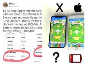 Apple giảm hiệu suất iPhone cũ, ép người dùng đổi máy?