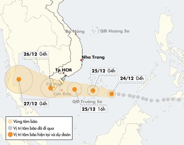 Bão Tembin có thể đạt cấp 13, mạnh hơn bão Linda lịch sử-2