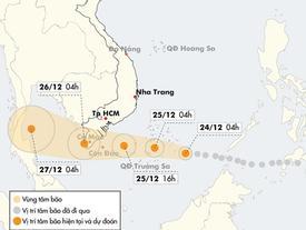 Bão Tembin có thể đạt cấp 13, mạnh hơn bão Linda lịch sử