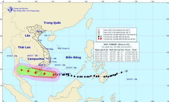 Tin bão khẩn cấp: Bão số 16 liên tiếp mạnh thêm, tối nay tấn công đất liền Vũng Tàu - Cà Mau-1