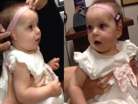 Tan chảy khoảnh khắc bé gái lần đầu được nghe tiếng mẹ gọi qua máy trợ thính