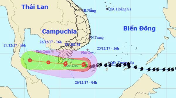 Bão Tembin vào Cà Mau - Kiên Giang, Nam Bộ mưa to-1