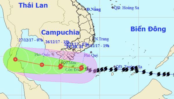 Bão Tembin yếu thành áp thấp, mưa to khắp Trung, Nam Bộ-1