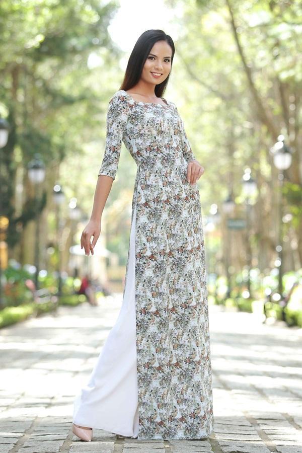 Dàn thí sinh Hoa hậu Hoàn vũ kẻ chín người mười khi khoe sắc với áo dài nền nã-5