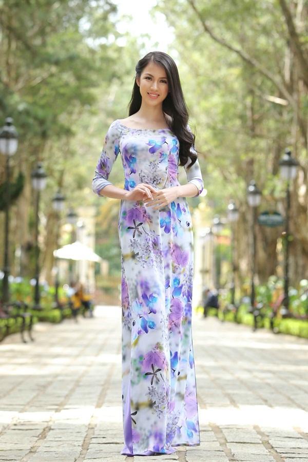Dàn thí sinh Hoa hậu Hoàn vũ kẻ chín người mười khi khoe sắc với áo dài nền nã-11