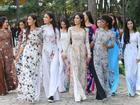 Dàn thí sinh Hoa hậu Hoàn vũ 'kẻ chín người mười' khi khoe sắc với áo dài nền nã