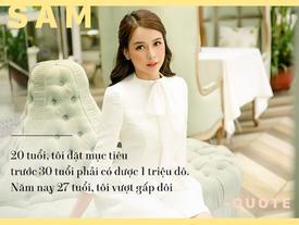 Hot girl - hot boy Việt: Sam hé lộ thu nhập 'khủng' ở tuổi 27